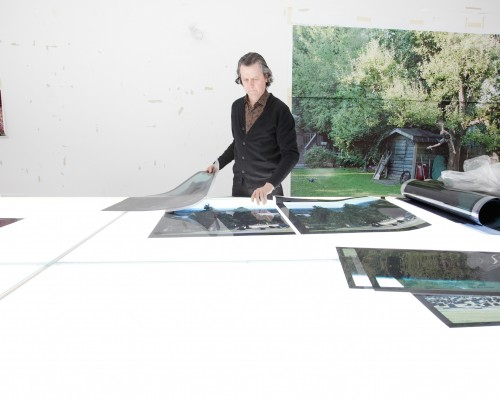 Canadian artist Jeff Wall at work in his east vancouver studio