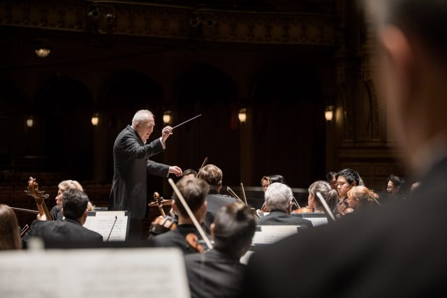 Bramwell Tovey conducts the Vancouver Symphony Orchestra at the Orpheum theatre