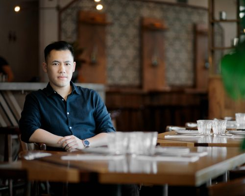 Vincent Nguyen, co-owner of Anh and Chi photographed for his feature in BC Business Magazine.