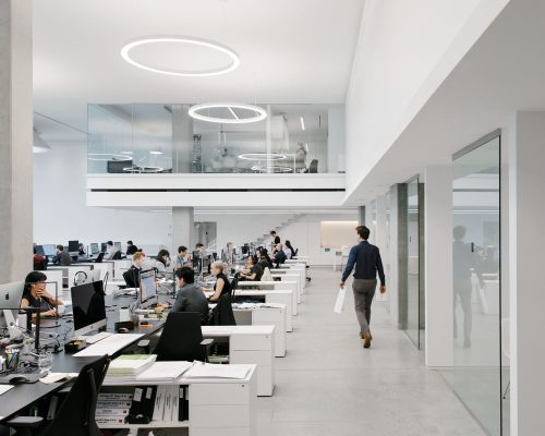 Henriquez Partners Architects at work in their office